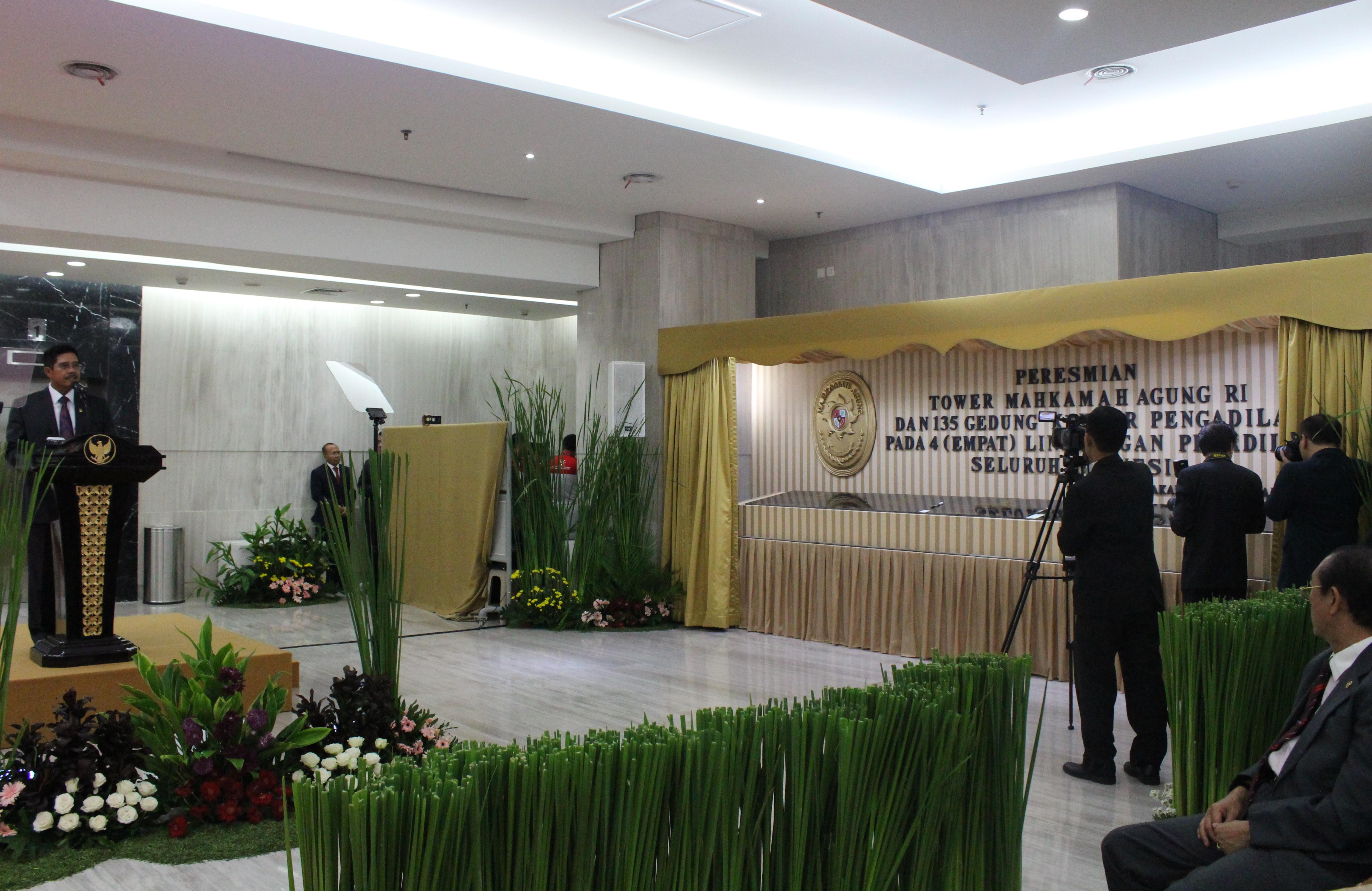 Ketua MA Resmikan Gedung Tower MA Dan 135 Gedung Pengadilan