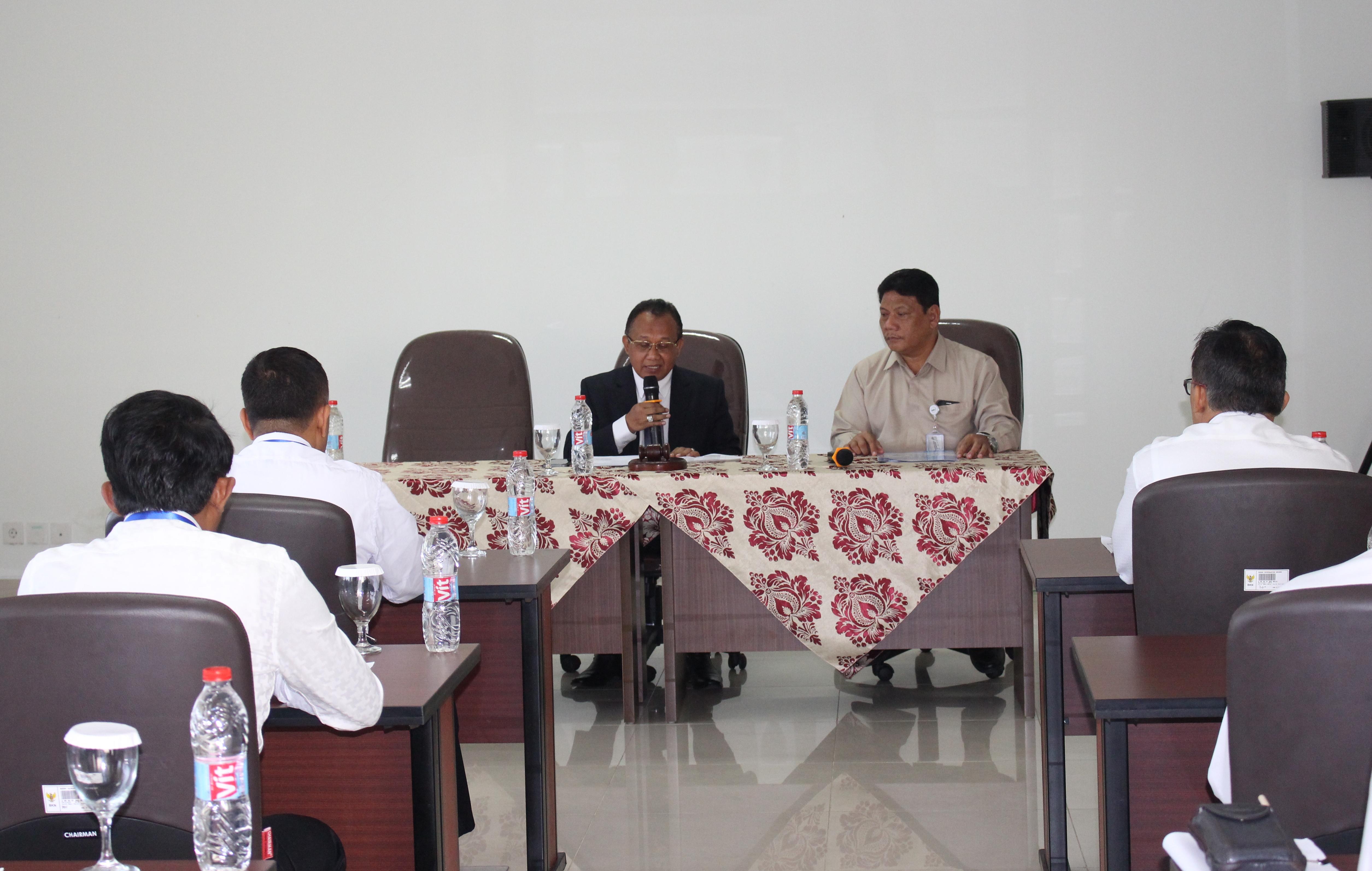 Sekretaris MA Membuka Test Assessment Bagi Peserta Lelang Jabatan Pmpinan Tinggi Madya dan Pratama Pada Mahkamah Agung RI