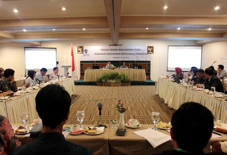 FOCUS GROUP DISCUSSION PERBAIKAN KEMUDAHAN BERUSAHA DI INDONESIA