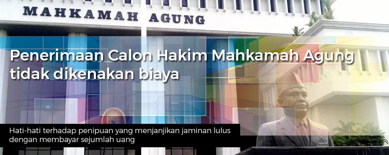 Penerimaan Calon Hakim Mahkamah Agung 2017