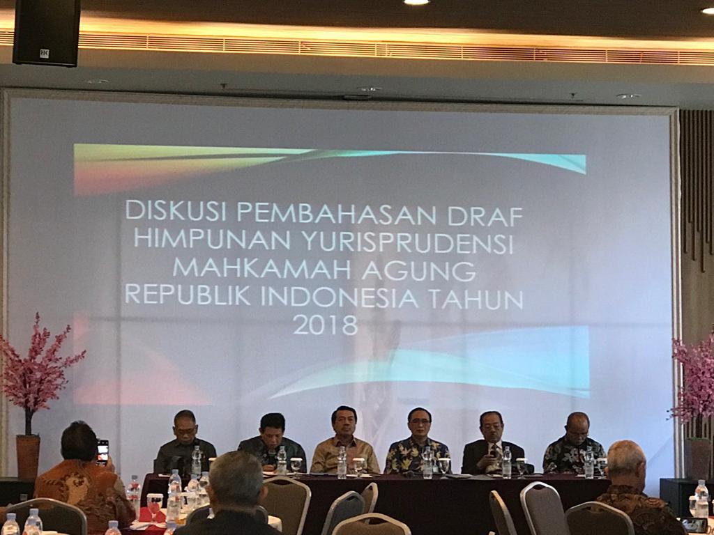 MAHKAMAH AGUNG BAHAS DRAFT USULAN YURISPRUDENSI MA TAHUN 2018