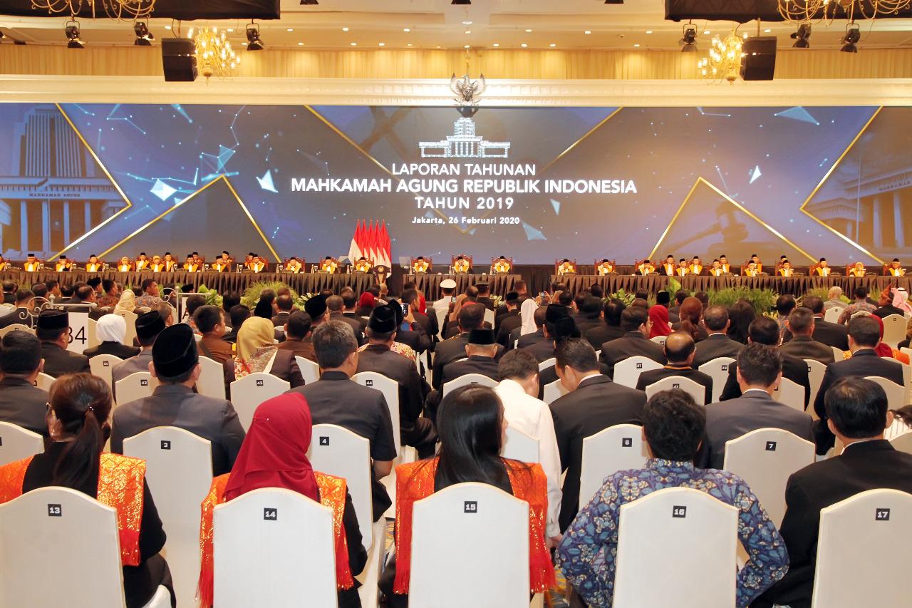 PRESIDEN JOKOWI: TERIMA KASIH MAHKAMAH AGUNG YANG TELAH MELAKUKAN REFORMASI BESAR-BESARAN TERHADAP DUNIA PERADILAN INDONESIA