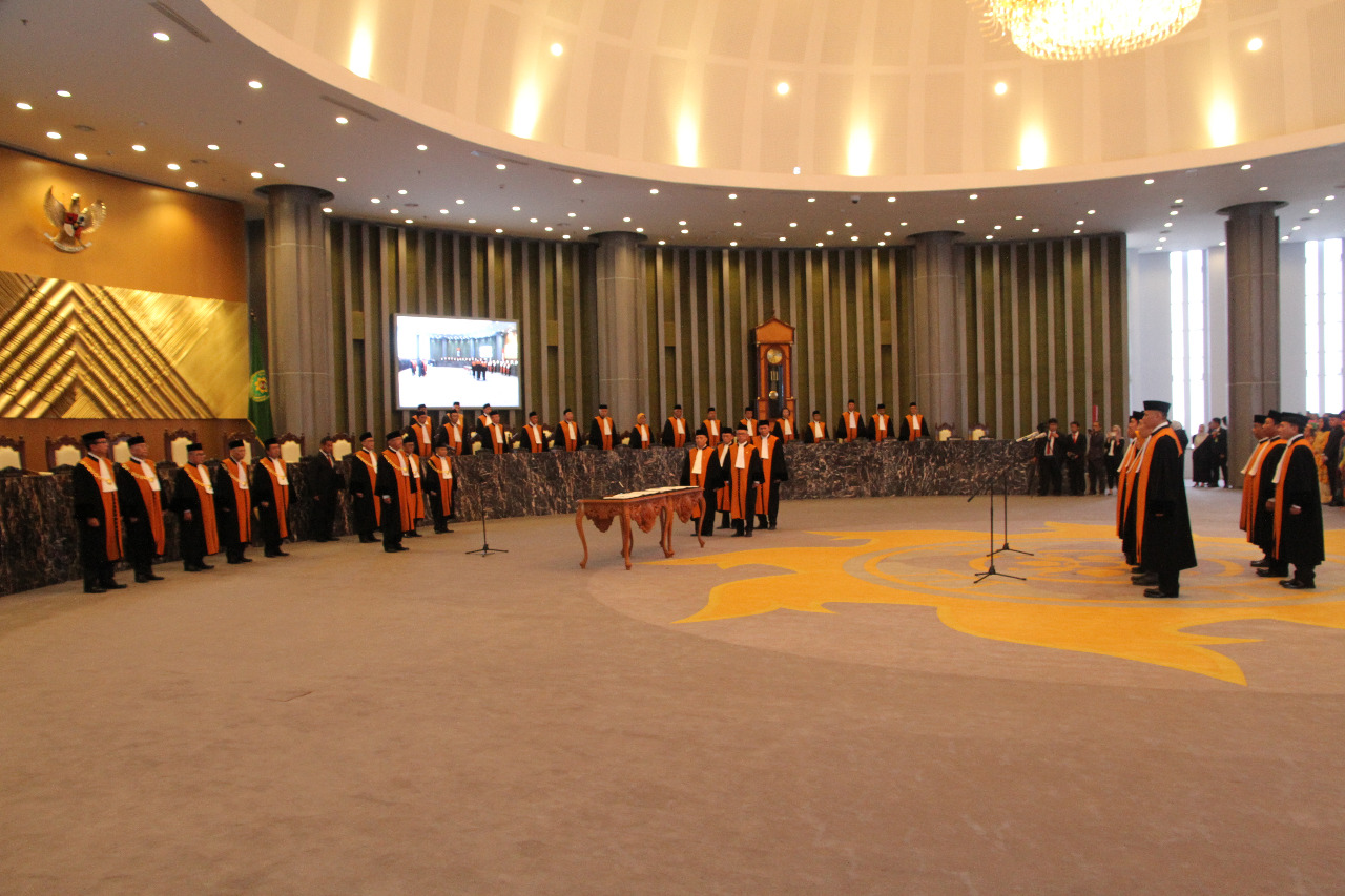 CHIEF JUSTICE OF THE SUPREME COURT OFFICIALLY INAUGURATES 5 JUSTICES AND 3 ADHOC-JUDGES