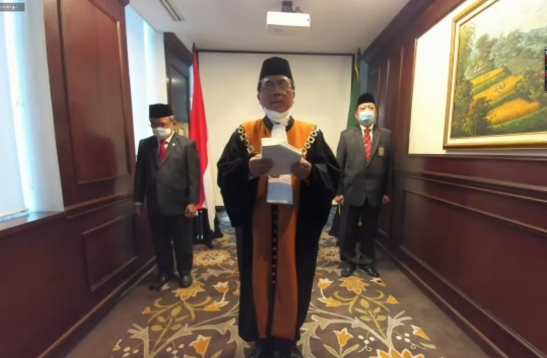 CHIEF JUSTICE OF SUPREME COURT LED VIRTUAL RETIREMENT COMMENCEMENT OF CHIEF JUDGE OF YOGYAKARTA HIGH RELIGIOUS COURT