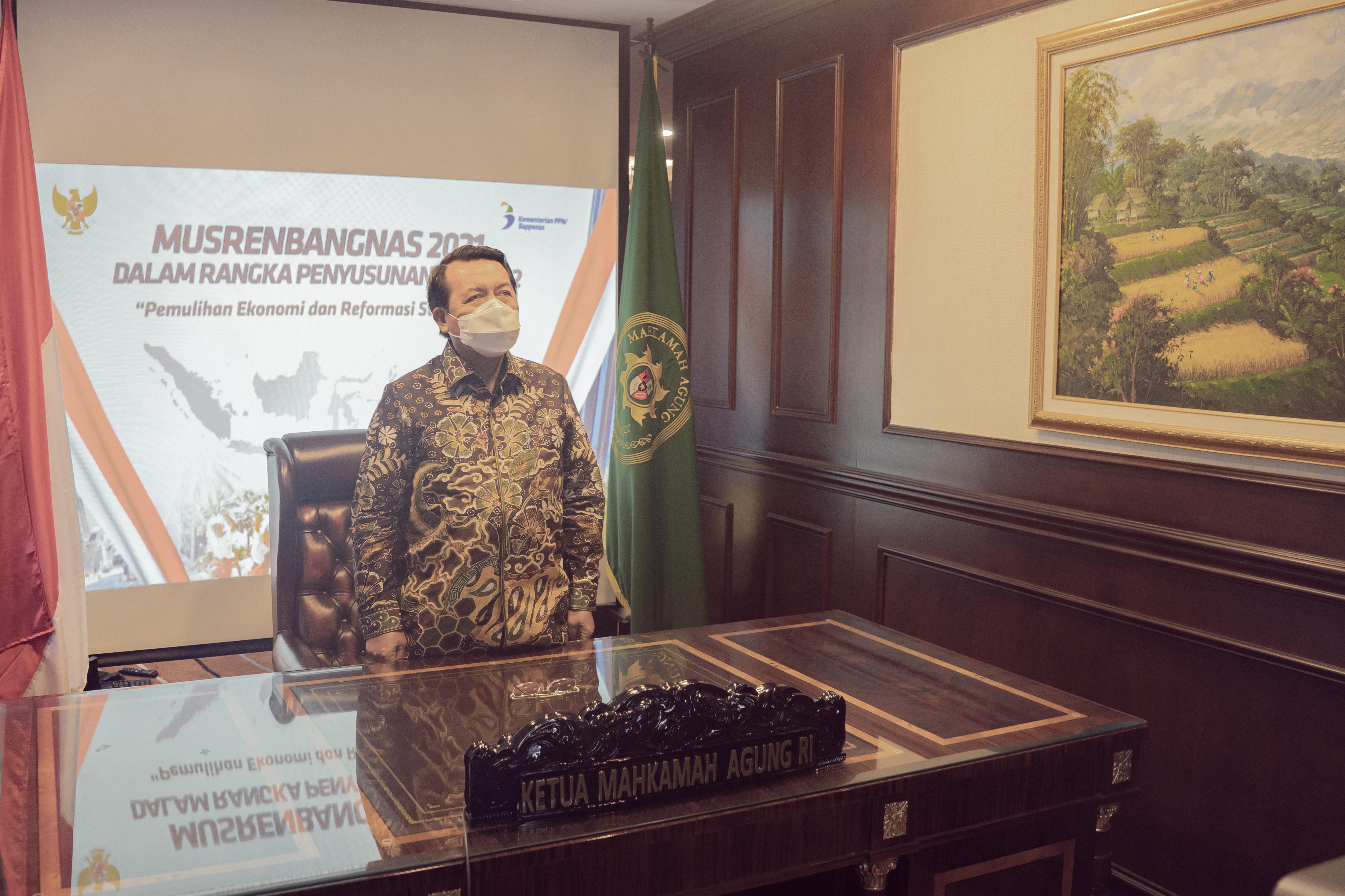 KMA HADIRI MUSREMBANGNAS 2021 SECARA VIRTUAL