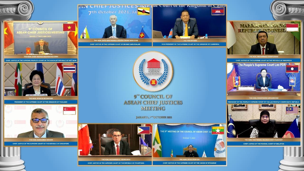 KETUA MAHKAMAH AGUNG SE-ASEAN SEPAKAT MELANJUTKAN BERBAGAI KERJASAMA YUDISIAL DALAM FORUM CACJ YANG DiPIMPIN KETUA MAHKAMAH AGUNG REPUBLIK INDONESIA